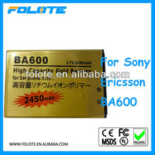 gold battery 2450mah for Song Ericsson BA600