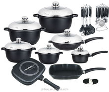 32pcs die casting aluminum kitchenware and cookware