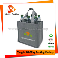 Wholesale 6 Bottle Non Woven Wine Tote Bag