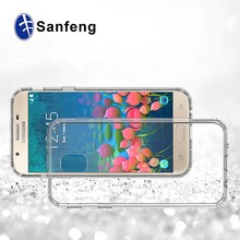 Hard PC back cover TPU edge transparent cell phone case for Samsung Galaxy J5 2017