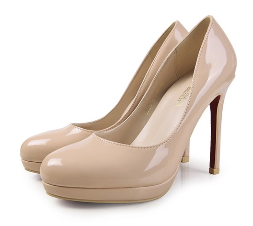 Get Quotations · 2015 Plus Size 34-42 10 Round Toe Women Pumps Green Black  Nude High Heels a87836883da5