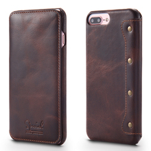 "5.5"" Universal Cowhide Flip Leather Phone Case For iPhone 7 Plus"
