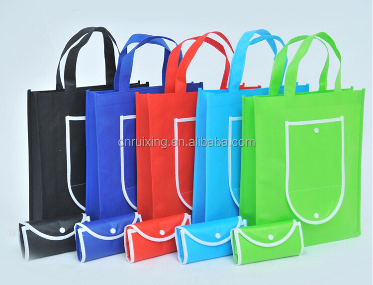 printed custom made reusable foldable shopping non woven bag