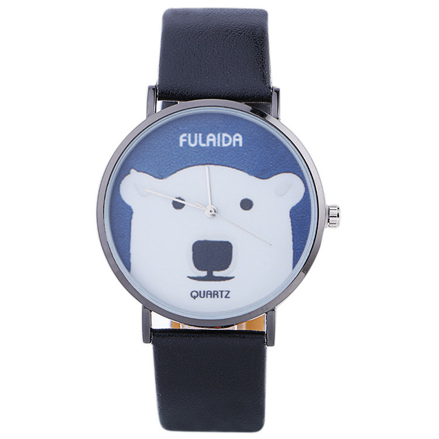 2017 Brand New Promotion Anchor Watches Cat Printing Face Leather Watch DYW11