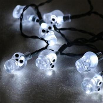Factory Price Cold White 10L 20Led Skull Halloween Decoration