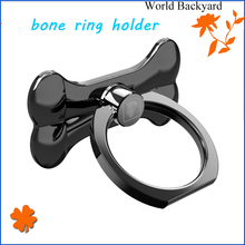 variety color options PC case & Aluminum alloy bone shaped cell phone and tablet removable smartphone ring holder