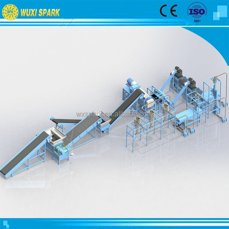 Full-Automatic Used Tyre Recycling Machine to Make Rubber Chips in Stock for sale
