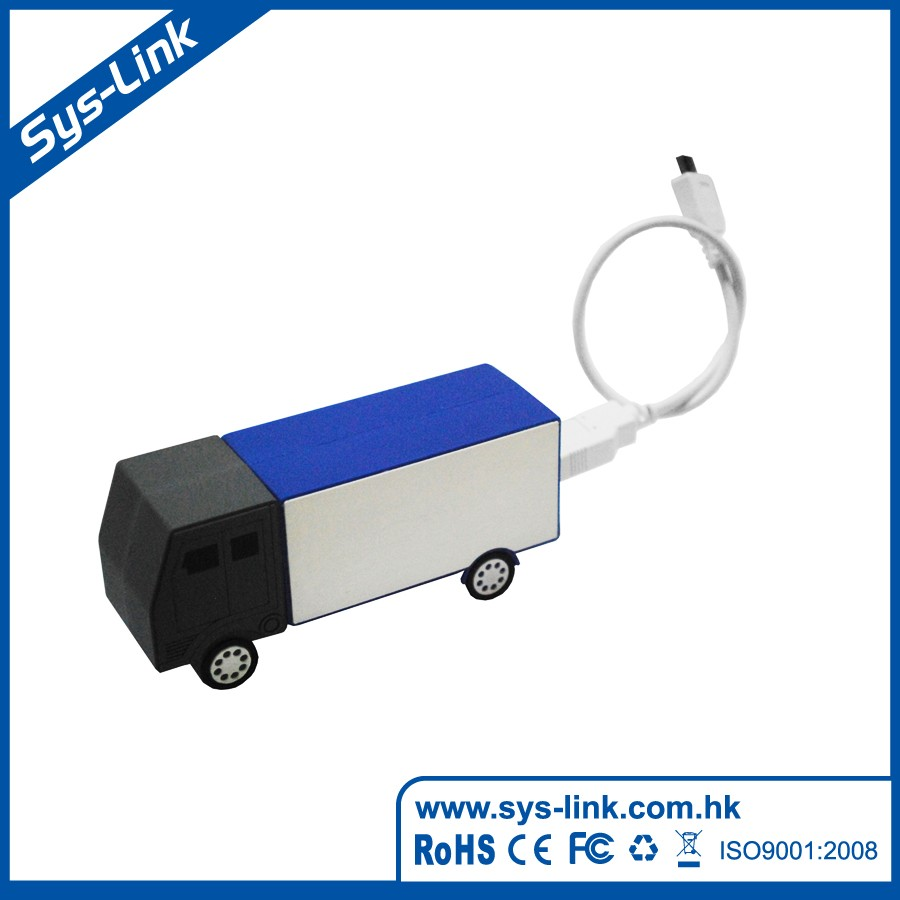 Truck shape soft PVC rohs power bank