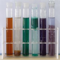 Water decoloring agent for water color removal