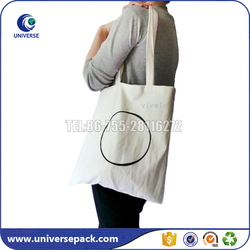 wholesale customized reusable cotton shoulder bag with screen printing
