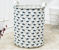 Big Cotton Linen Storage Basket for Baby & Kids Toys