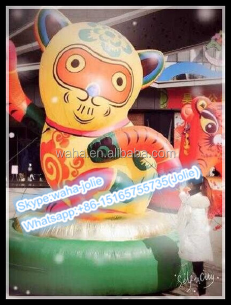 4M-Attractive Event Decoration Inflatable Monkey/Advertising Cartoon/Animal Replica W10215