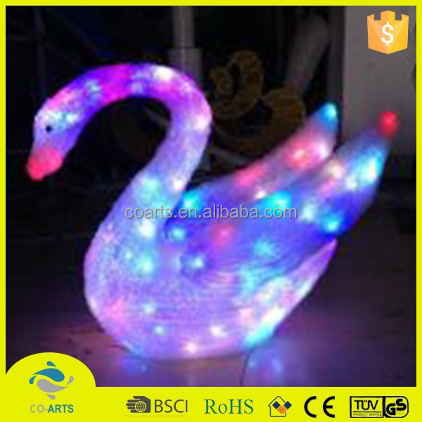 2015 High quality cheap price swan shape christmas led light