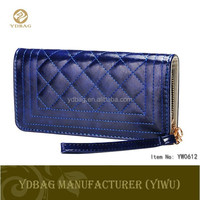 Long style PU leather wallet with handle