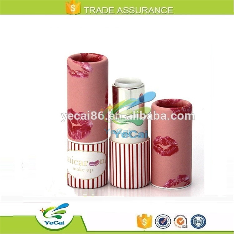 Fashion customized packaging printed paper designer lipstick case