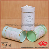 Luxury Custom White Cardboard Tube Box Packaging With Lids