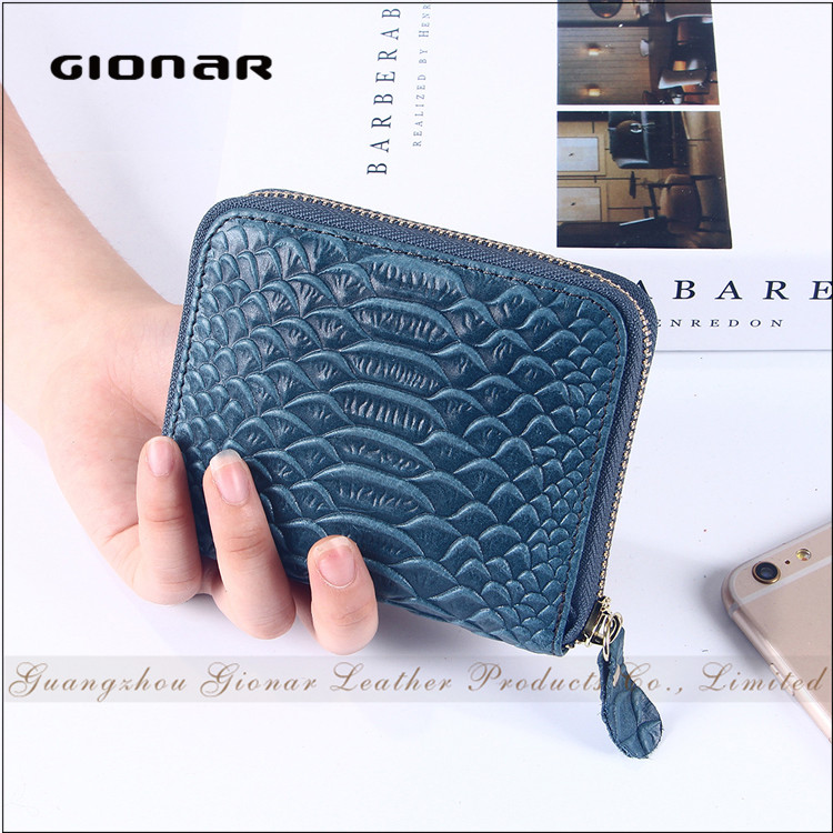 Good Quality Women Crocodile Animal Shaped Leather Coin Purse