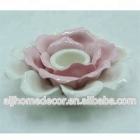 Ceramic candle holders flower shape home decor