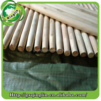 Natural hard wood rod, straight broom wood rod, solid wooden stick handle