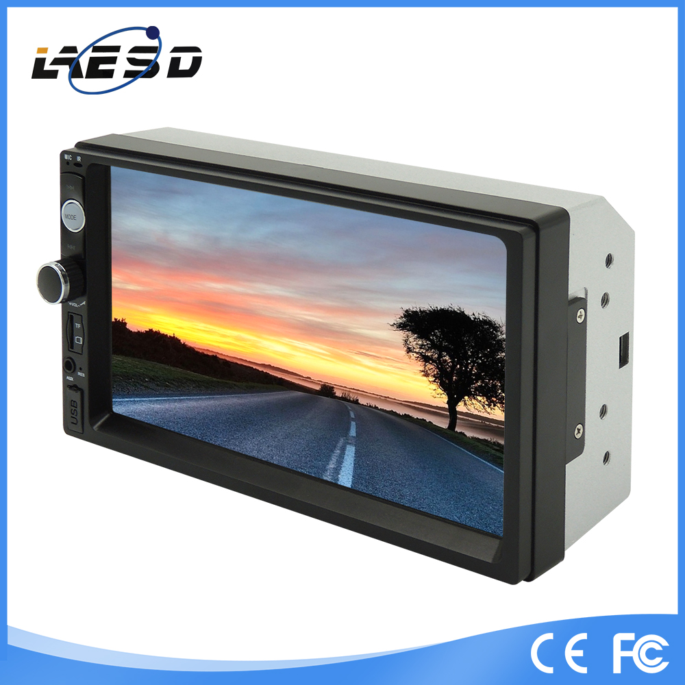 7010b 12V-24V 7 inch 800*480 2 din Car dashboard LCD Car Monitor With CE & RoHs