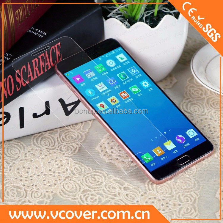 2.5D edge to edge tempered glass screen protector / clear cover / invisible shield 9H for Samsung mobile galaxy A9 China Vcover