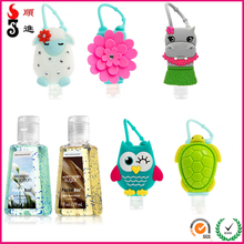 Animal 3D silicone bath&body works hand sanitizer pocketbac holder