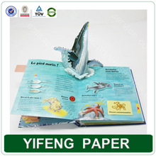 3d custom pop up book printing for children