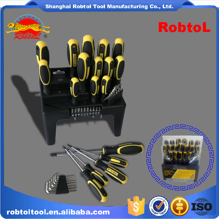 44 in 1 interchangeable screwdriver set plastic rack hex key precision manual repair hardware multi purpose tool kit
