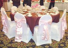 Spandex chair cover with satin sash for decoration
