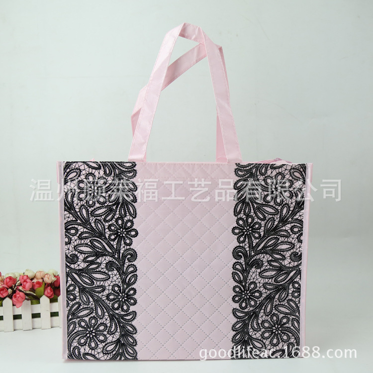 Top range embossed nonwoven lace printed gift bag