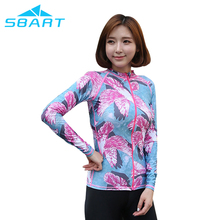 2017 new design womens fitness long sleeve sublimated rashguard flower print rash shirt with SGS report