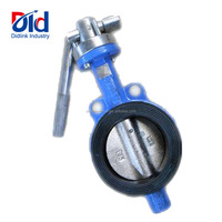 Wafer Double Eccentric Electric Flange Food Grade Vulcanized Wrench Operated Butterfly Valve Dn200