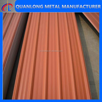 2015 best metal material home and building appliance PPGI/long span color coated corrugated roofing panel