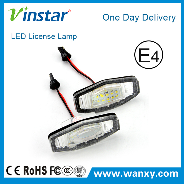 High quality Led license plate light Led number plate lamp 18SMD auto led rear lamp for Civic VII 4D/5D C.ivic VIII with E-mark
