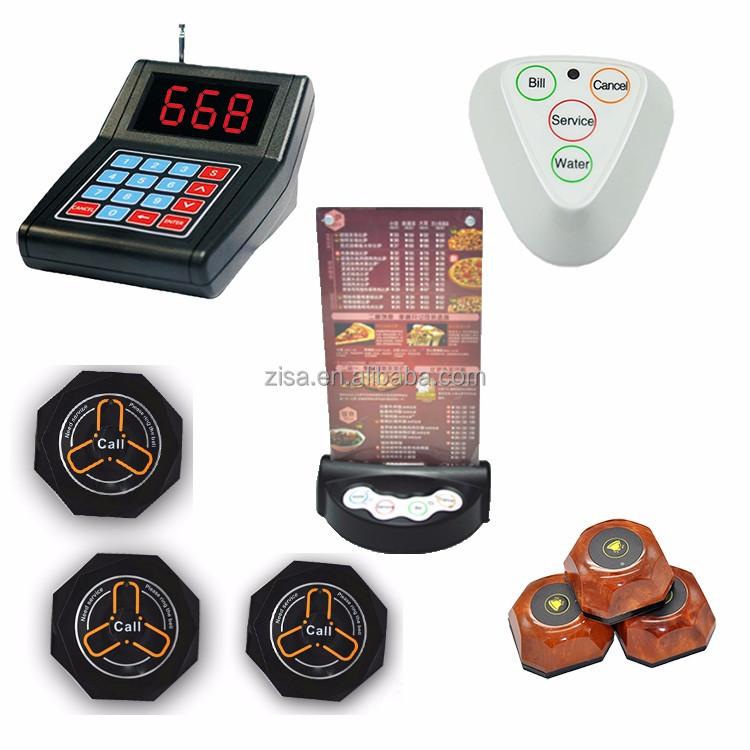 Sans fil ZISA table cloche bouton d'appel pour le restaurant avec le menu - ANKUX Tech Co., Ltd