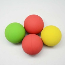 Eco-Friendly Rubber Bouncing Ball Bright Color Rubber Racket Ball Emotions Toys Hollow Squash Ball