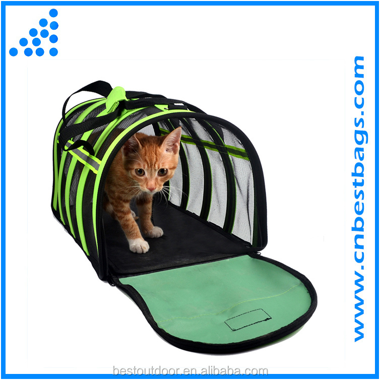 Folding Stripe Breathable Dog Cat Carrier Pet carrier Transport Bag