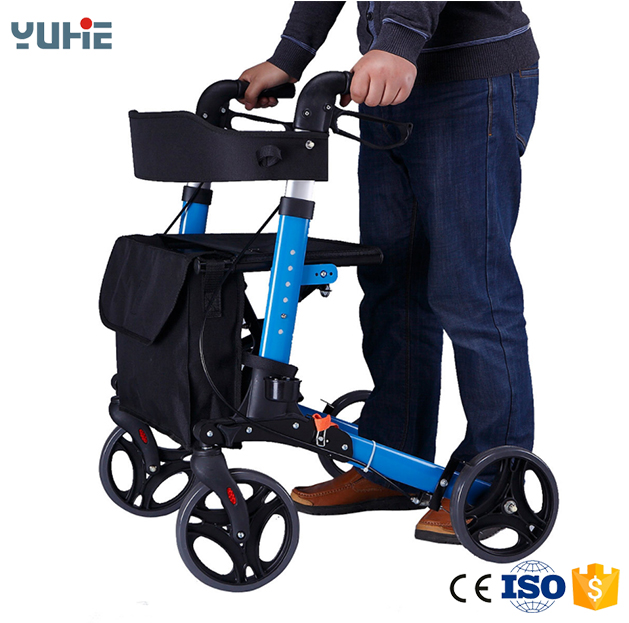 hot sale rollator walker armrest with footrest and seat