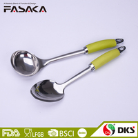 2 pieces set of stainless steel kitchen utensils big spoon soup ladles