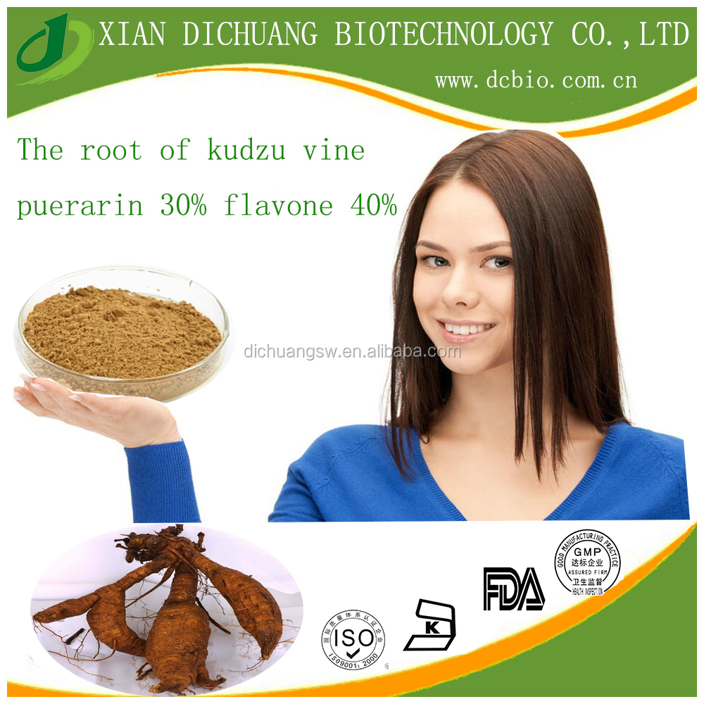 Natural the root of kudzu vine/puerarin 30% flavone 40% 80%