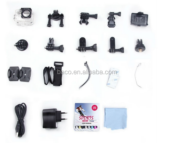 Multifunctional 30m waterproof 2.0 inch sj7000 wifi action cam
