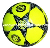 fluorescence PVC laminated size 5 soccer ball