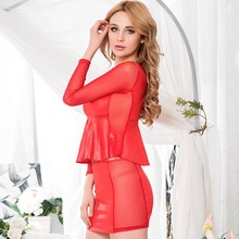 Red ladies popular cheap hot sales peplum dress