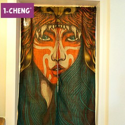 Hot Sale Corean Style Door Curtain Printed Design Decorative Curtain Cool Hangings Curtains Designs
