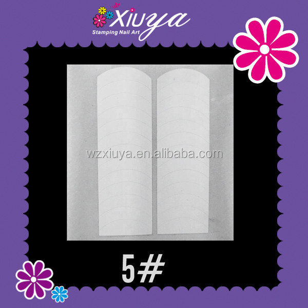 Plain artificial nail tips, French nail sticker for beauty salon 05#