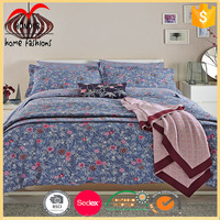 wedding palace use luxury 100% cotton printed bed sheet queen home bedding set