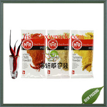 three sie seal flat aluminum foil leak-proof chilli powder sauce coriander turmeric powder bag