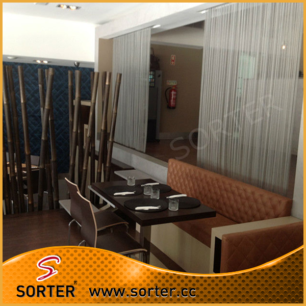 flexible metal wire mesh curtain/hanging room divider/decorative partition