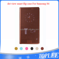 hot sale! Dot View Flip Smart Case Cover for samsung S6 S6 edge