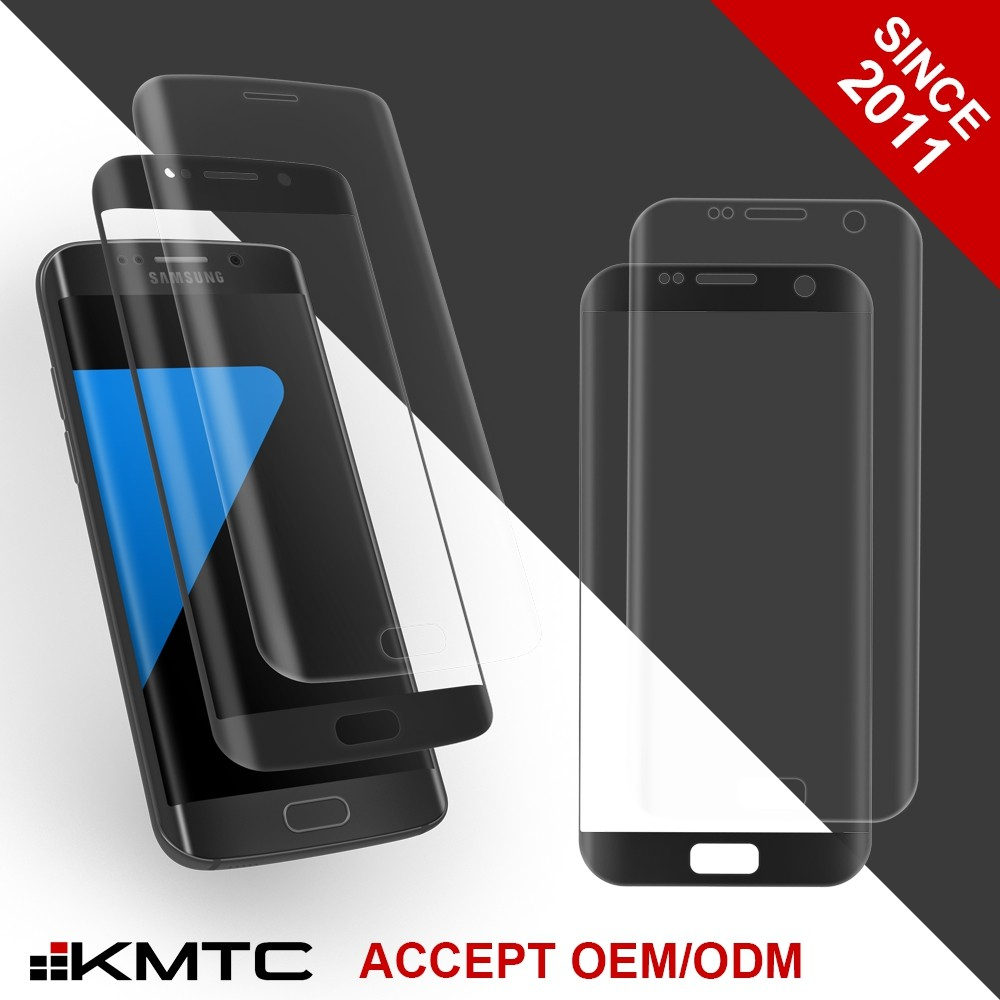 KMTC New Tech 3D 9H Scratch Resist Antimicrobial Tempered Glass Screen Protector For Samsung S6 Edge SGS Certificated
